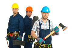 Constructors workers team stock photography
