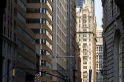 Construções de Wall Street em New York City Imagem de Stock Royalty Free