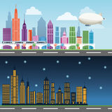 Construções do projeto grande da cidade Imagens de Stock
