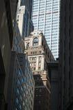 Construções financeiras do distrito, New York City Fotos de Stock Royalty Free
