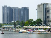 Construções modernas altas em Shanghai Fotos de Stock Royalty Free
