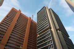 Construções modernas no Sao Paulo City Fotografia de Stock Royalty Free