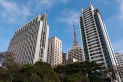 Construções modernas no Sao Paulo City Imagens de Stock Royalty Free
