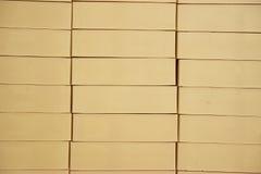 Construido de ladrillo beige fotos de archivo