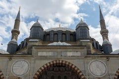 Construido entre la mezquita 1569 y 1575 de Selimiye en la ciudad de Edirne, Tracia del este, Turquía foto de archivo