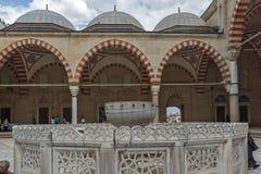 Construido entre la mezquita 1569 y 1575 de Selimiye en la ciudad de Edirne, Tracia del este, Turquía imagen de archivo libre de regalías