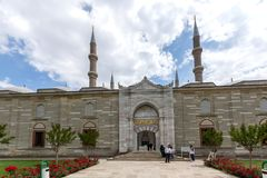 Construido entre la mezquita 1569 y 1575 de Selimiye en la ciudad de Edirne, Tracia del este, Turquía fotos de archivo libres de regalías