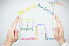 Construindo um negócio novo Imagem de Stock Royalty Free