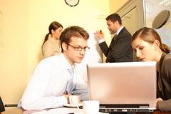 Construindo um negócio, visões do negócio imagens de stock royalty free
