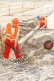 Construindo um pavimento Foto de Stock Royalty Free