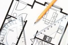 Construindo uma casa Foto de Stock