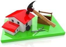 Construindo uma casa Imagens de Stock