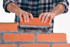 Construindo uma parede. Imagens de Stock Royalty Free