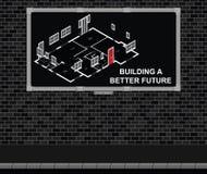 Construindo uma placa de propaganda futura melhor Fotos de Stock