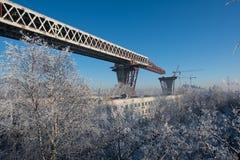 Construindo uma ponte Fotografia de Stock