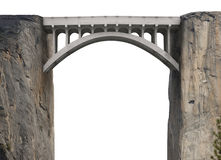 Construindo uma ponte sobre a abertura Fotos de Stock Royalty Free