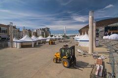 Construir un festival público al aire libre Foto de archivo