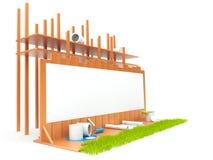 Construire avec de la maison Photo libre de droits
