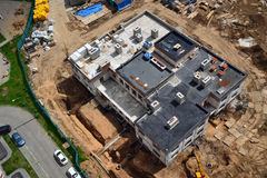 Construisant en construction, chantier de construction Image libre de droits