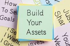 Construisez vos capitaux photo libre de droits