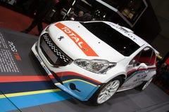 Voiture du rassemblement T16 de Peugeot 208 - Salon de l'Automobile de Genève 2013 Photo libre de droits