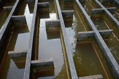 Construção da filtragem da água da drenagem Foto de Stock Royalty Free