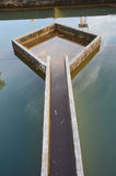 Construção da filtragem da água da drenagem Fotografia de Stock
