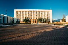 Construção da universidade médica do estado de Gomel no dia ensolarado em Gomel Fotos de Stock Royalty Free