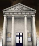 Construção de banco, dinheiro, investindo, aposentadoria Imagens de Stock