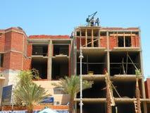 Construção de casa nova, Egito Fotografia de Stock