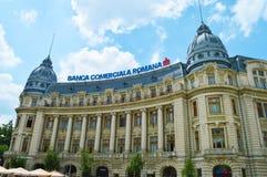 Construção de Commercial Bank do Romanian, Bucareste Fotos de Stock