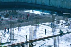 Construção de edifício Foto de Stock
