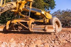 Construção de estradas do graduador Foto de Stock Royalty Free