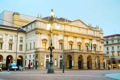 Construção de teatro da ópera de Scaka do La em Milão, Itália Foto de Stock Royalty Free