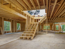 Construção do interior da casa nova Imagens de Stock