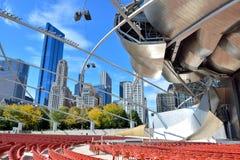 Construção do pavilhão de Chicago Pritzker Imagem de Stock