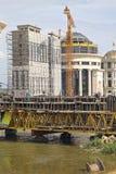 Construção do projeto de Skopje Fotografia de Stock Royalty Free
