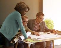 Construção interior Team Meeting Brainstorming Concept Fotografia de Stock