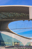Construção moderna do telhado Fotografia de Stock Royalty Free