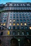 Construção no distrito financeiro, Manhattan, New York Imagem de Stock