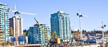 Construção residencial da torre Fotos de Stock