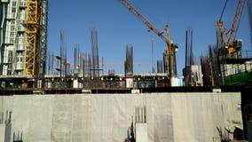 Construção uma construção em urbana, Banguecoque Tailândia vídeos de arquivo