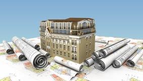 Construção urbana da elite Foto de Stock Royalty Free