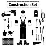 Construstion icons set Royalty Free Stock Photo