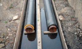 Constrution магистралей парового отопления! Стоковое фото RF