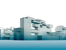 Construtivismo no azul Imagens de Stock Royalty Free