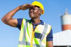 Construtor africano imagens de stock