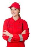Construtor da mulher Imagens de Stock Royalty Free