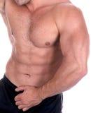 Construtor de corpo masculino 'sexy' atlético Imagens de Stock Royalty Free