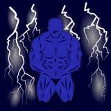 Construtor de corpo Pose ilustração royalty free
